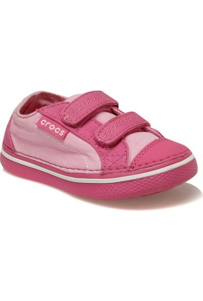 Crocs Hover Easy-On Canvas Snea Pembe Kız Erkek Çocuk Sneaker Ayakkabı