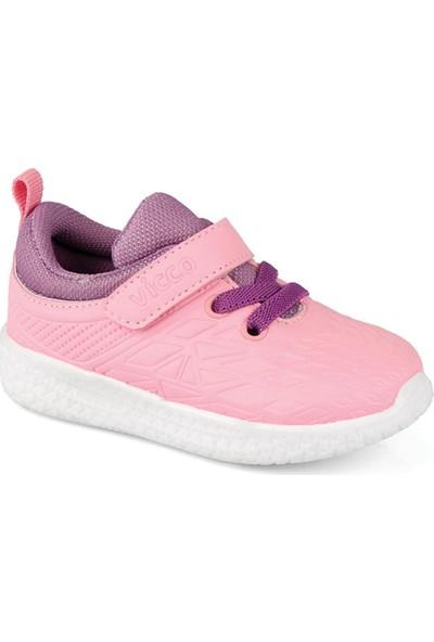 Vicco 347.19Y.221 Patik Işıklı Pembe Kız Çocuk Sneaker Ayakkabı