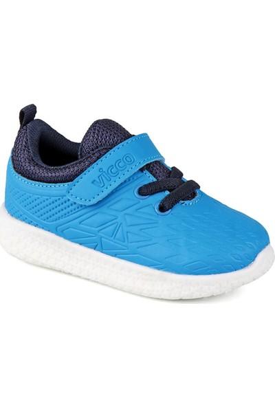 Vicco 347.19Y.221 Patik Işıklı Saks Kız Çocuk Sneaker Ayakkabı