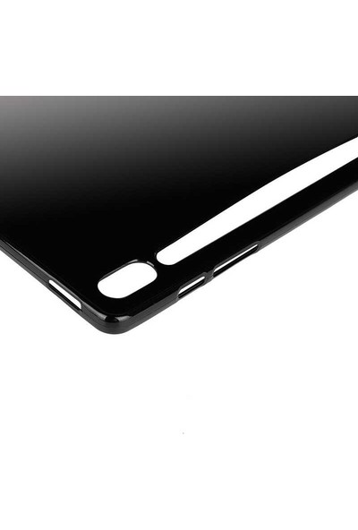 Case Street Samsung Galaxy Tab S6 T860 Kılıf Silikon İnce Kılıf Siyah