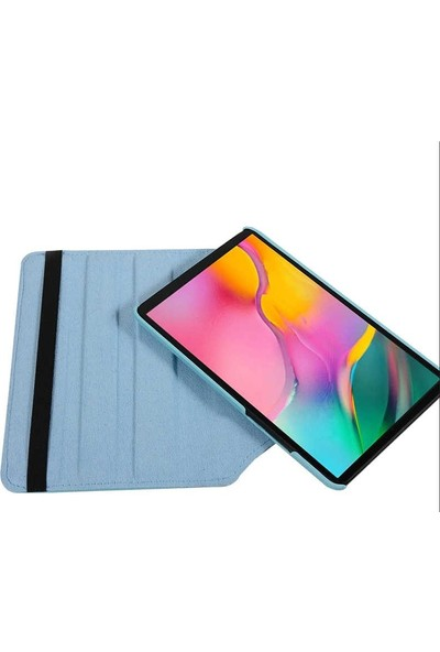 Case Street Samsung Galaxy Tab T720 S5E Kılıf Dönerli Standlı Koruma Kırmızı