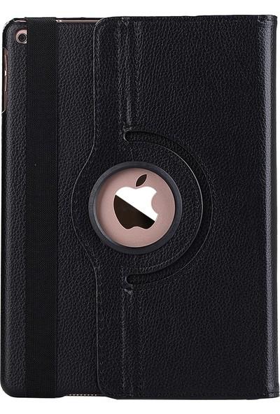 "EssLeena Apple Kılıf Seti iPad Pro 12.9 1.Nesil (2015) 12.9"" 360 Derece Dönerli Standlı PlusTech Tablet Kılıfı + 9H Cam + Şarj Kablosu + Stylus Kalem (A1584/A1652) - Siyah"
