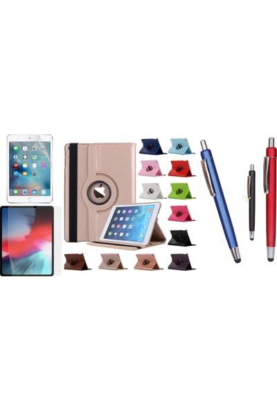 """EssLeena Apple Powers Kılıf Seti iPad 6.Nesil (2018) 9.7"""" 360 Derece Dönerli Standlı Tablet Kılıfı+Ekran Koruyucu Film+Kalem (A1893/A1954) - Siyah"""