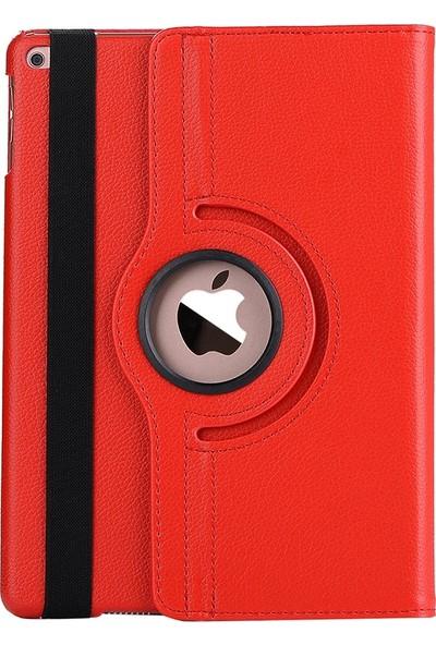 """EssLeena Apple Kılıf Seti iPad 4.Nesil (2012 Sonu) 9.7"""" 360 Derece Dönerli Standlı Powers Tablet Kılıfı + Ekran Koruyucu Film + Şarj Seti + Stylus Kalem (A1458/A1459/A1460) - Kırmızı"""