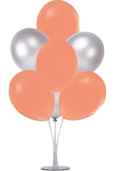 Kidspartim 7 'li Balon Demeti Turuncu Gümüş Balon