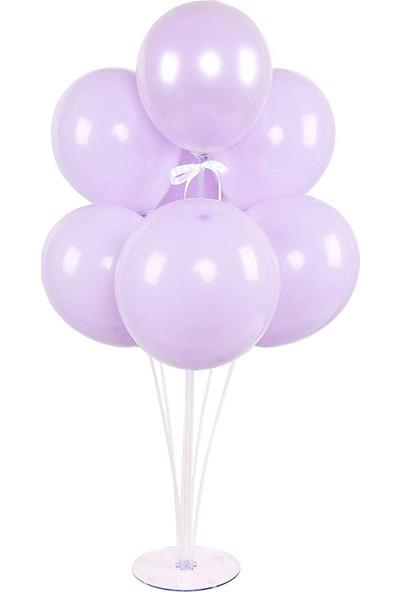 Kidspartim 7li Balon Stand Demeti Makaron Mor Balon