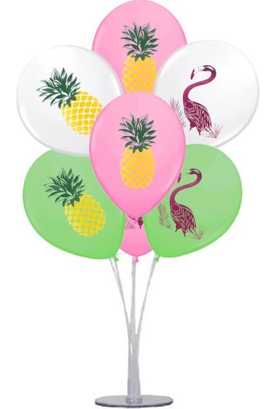 Kidspartim 7 'li Balon Stand Demeti Flamingo