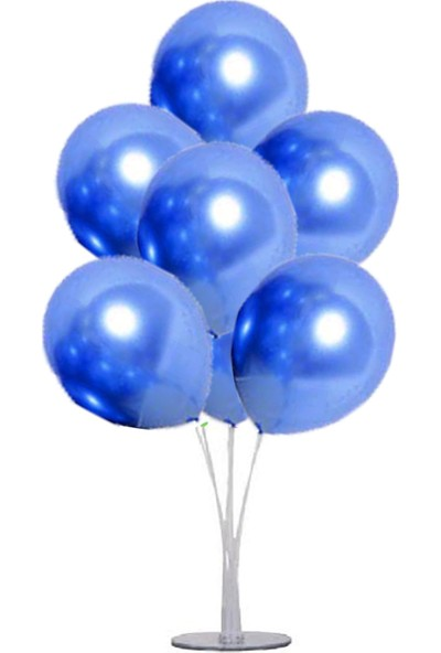 Kidspartim 7 'li Balon Stand Demeti Krom Mavi Balon