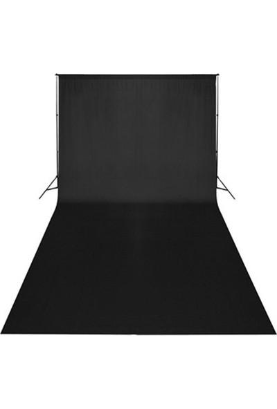 Süper Fon Sonsuz Siyah Fon 275 x 1100 cm