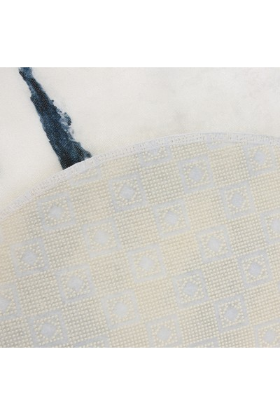 Soley Marble Mavi 2'li Dekoratif Banyo Paspas