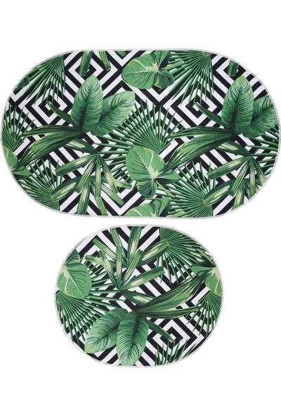 Hepsi Home Tropic Dekoratif Banyo Paspas