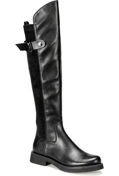 U.S Polo Assn. Sarah 9Pr Siyah Kadın Çizme 36