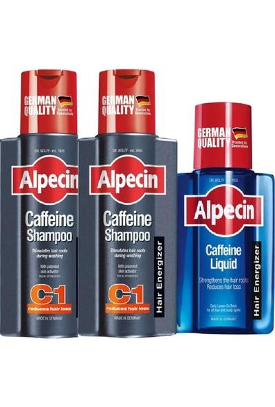 Alpecin Dökülme Karşıtı Kafein 2 x Şampuan C1-250ML + Likit 200 ml