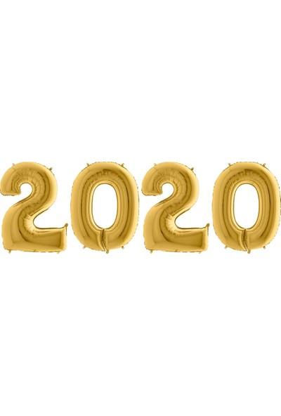 Kikajoy Yılbaşı 2020 Altın Folyo Balon Set 102 cm
