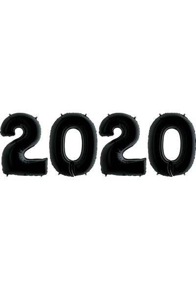 Kikajoy Yılbaşı 2020 Siyah Folyo Balon Set 102 cm