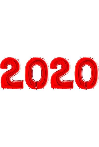 Kikajoy Yılbaşı 2020 Kırmızı Folyo Balon Set 102 cm