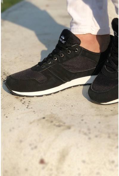 Tommy Life Çizgi Detaylı Siyah-Beyaz Erkek Spor Ayakkabı