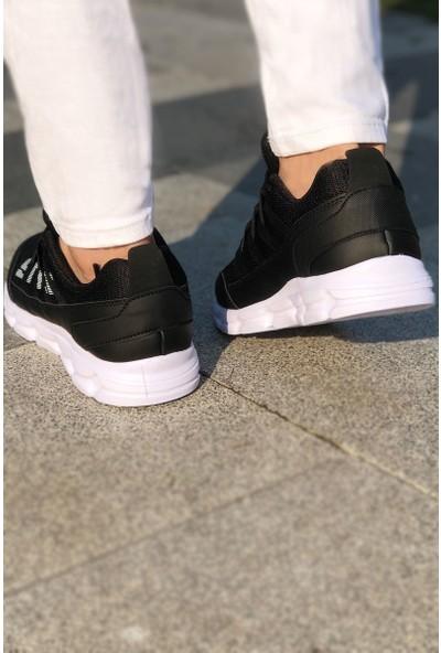 Tommy Life Style Baskılı Siyah-Beyaz Erkek Spor Ayakkabı