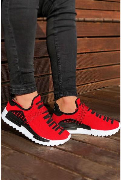 Tommy Life Human Baskılı Kırmızı Erkek Spor Ayakkabı