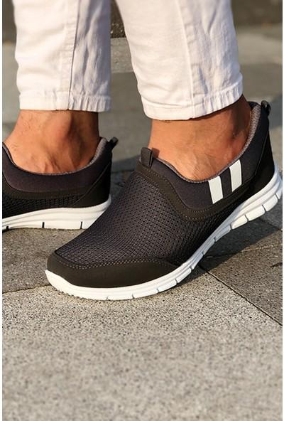 Tommy Life Yan Şeritli Siyah-Beyaz Erkek Spor Ayakkabı
