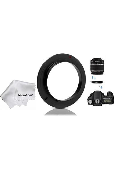Canon 18-135Mm Lens İçin Macro Makro Ters Lens Objektif Adaptörü