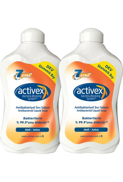 Activex Antibakteriyel Sıvı Sabun Aktif 2x1,5lt
