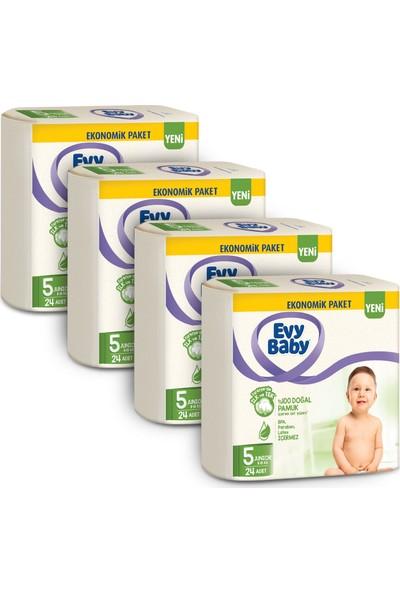 Evy Baby Bebek Bezi 5 Beden Junior 4'lü Fırsat Paketi 96 Adet (Yeni)