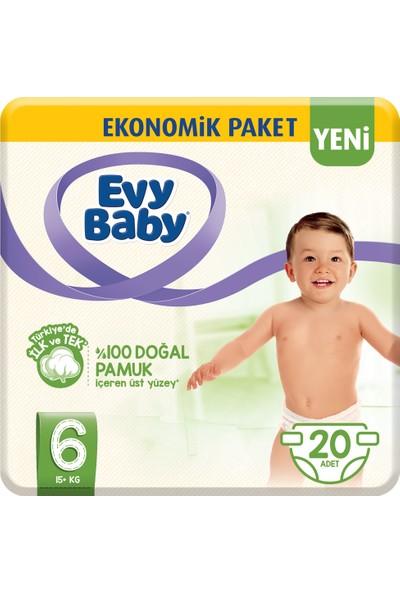 Evy Baby Bebek Bezi 6 Beden XL 20 Adet (Yeni)