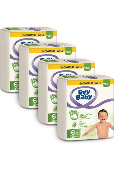Evy Baby Bebek Bezi 6 Beden XL 4'lü Fırsat Paketi 80 Adet (Yeni)