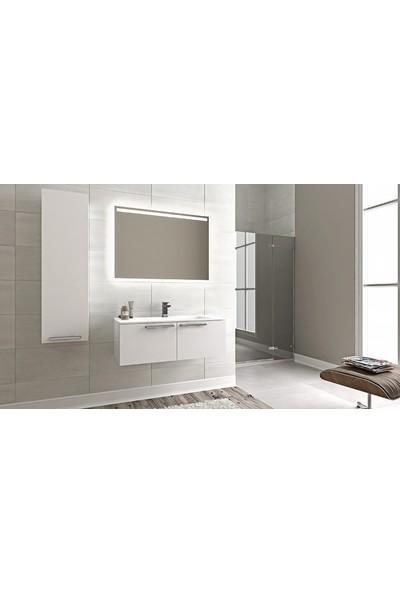Bagnotti Aries Parlak Beyaz Banyo Dolabı