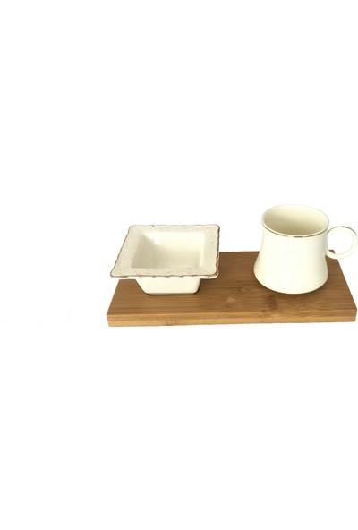 Lavin Kahve Fincan Set Bambu Tek Kişilik