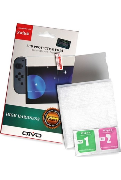 Oivo Nintendo Switch Cam Ekran Koruyucu Tempered Class 9h Temperli