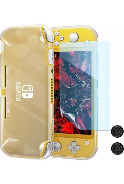 Ovio Nintendo Switch Lite Koruma Kılıfı Ekran Koruyucu 3in1 Set