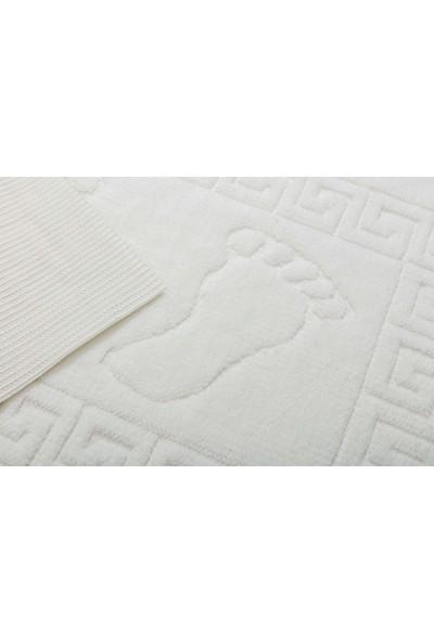 Favore Casa Welsoft Ayak Izli Kaymaz Paspas 50X70 cm Beyaz
