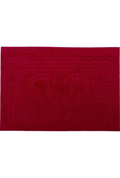 Favore Casa Welsoft Ayak Izli Kaymaz Paspas 50X70 cm Kırmızı