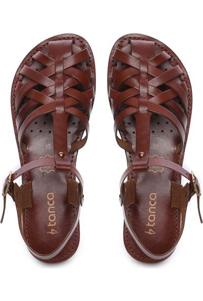 Kemal Tanca Kadın Deri Sandalet Sandalet 649 67 Bn Snd