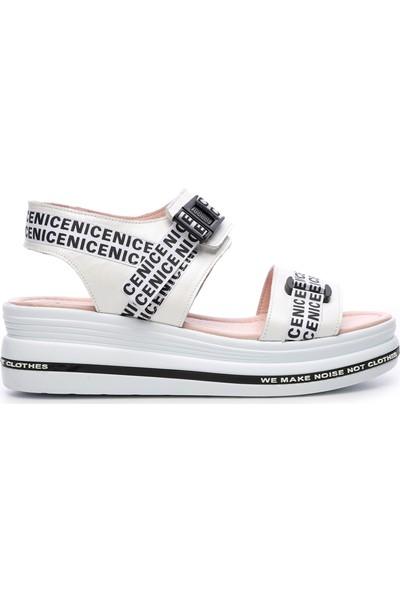Kemal Tanca Kadın Vegan Sandalet Ayakkabı 744 19566 Bn Ayk Y19