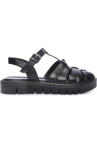 Kemal Tanca Kadın Deri Sandalet Sandalet 169 51907 Bn Sndlt