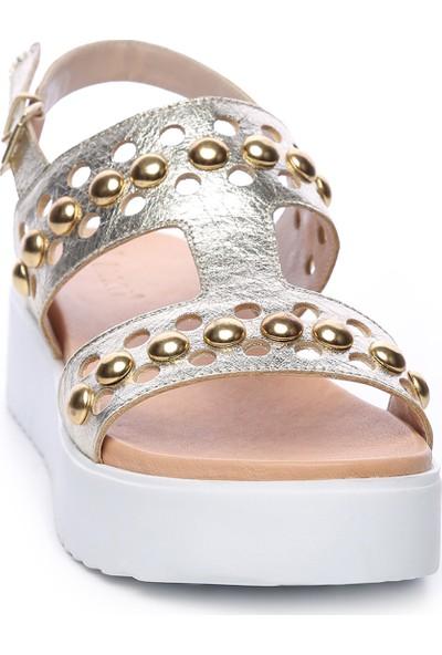 Kemal Tanca Kadın Deri Sandalet Sandalet 169 52782 Bn Sndlt