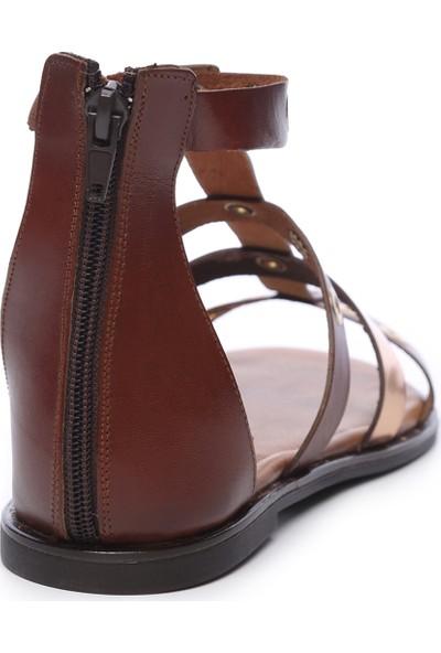 Kemal Tanca Kadın Deri Sandalet Sandalet