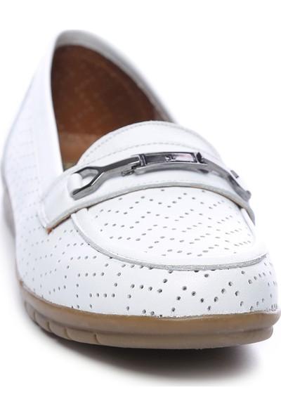 Kemal Tanca Kadın Deri Comfort Ayakkabı 211 7306 Bn Ayk