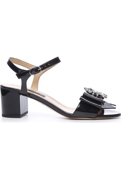 Kemal Tanca Kadın Kalin Topuklu Ayakkabı 613 23441 Byn Ayk