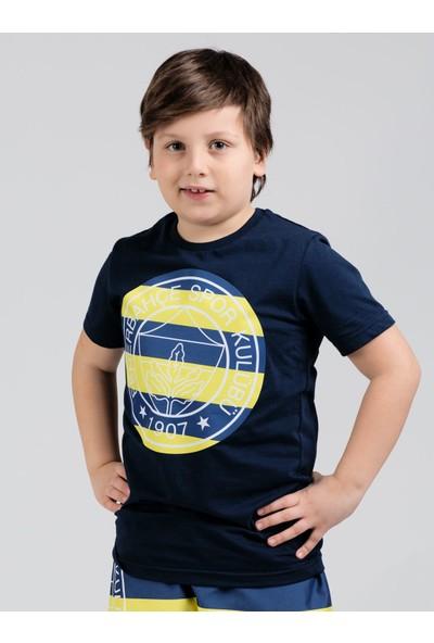 Fenerium Çocuk Tribün Çubuklu Logo T-Shirt