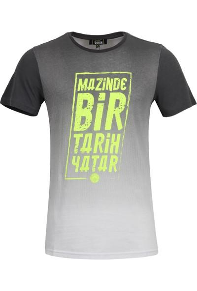 Fenerium Erkek Tribün Neon Baskı T-Shirt