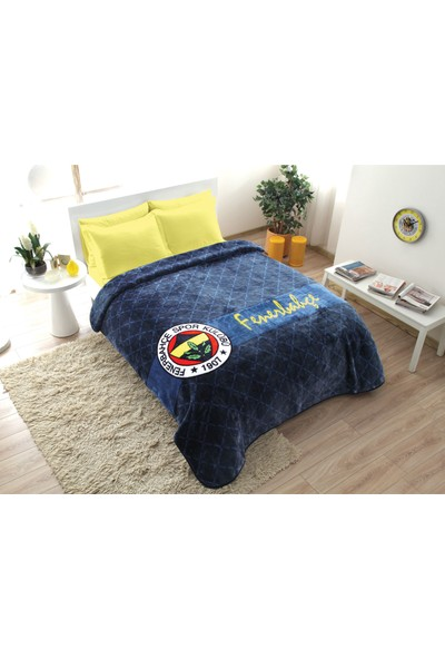 Taç Fenerbahçe Stripe Battaniye Çift Kişilik