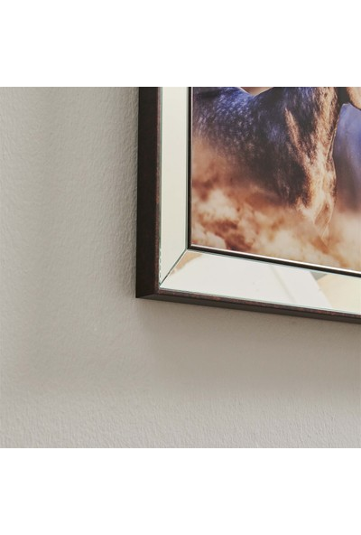 NeoStill Ayna Çerçeveli Tablo Temperli Cama Uv Baskı T701