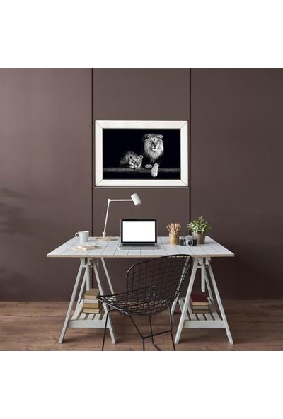 NeoStill Ayna Çerçeveli Tablo Temperli Cama Uv Baskı T711