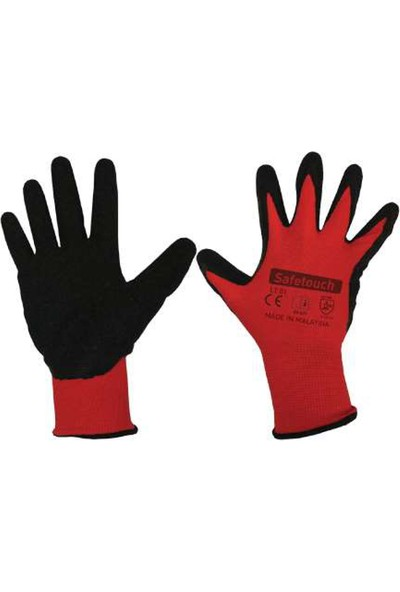 Safe Touch LT01 Latex Polyester Eldiven