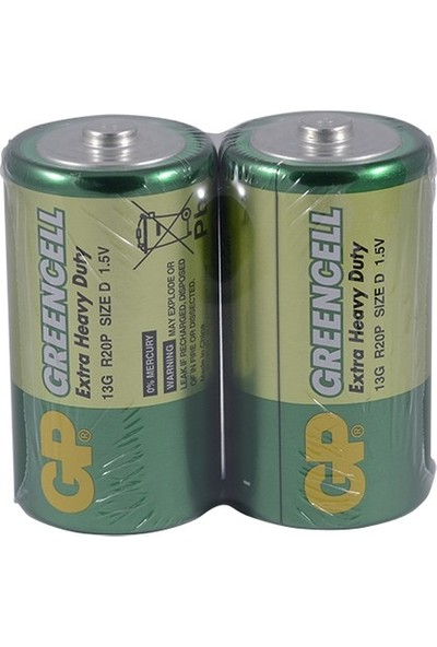 Gp 13G R20 Greencell Kalın Pil 20'li