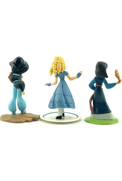 Disney Pixar Prensesleri Yasmin Kül Kedisi Mulan Set 9 cm